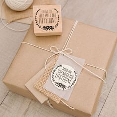 What a great idea for making a thank you note to go in with purchases. This is a cute way to give something a handmade feel (without having to handwrite each one!)