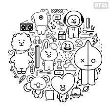 Bts Dibujos Para Imprimir Para Colorear Busqueda De Google Bts Drawings Bts Chibi Coloring Pages