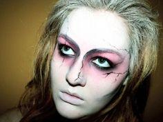 Face Makeup for Zombie Bride
