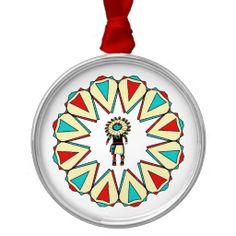 Native American Sun God Christmas Ornament