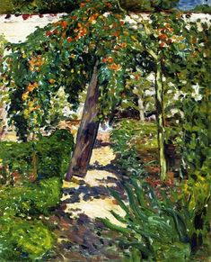 Louis Valtat - A Tree in the Garden, 1896. Oil on canvas, 81 x 65 cm. Private Collection