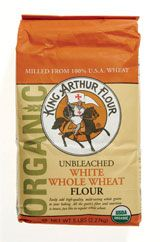 Best Flour    King Arthur 100% Organic Unbleached White Whole Wheat  It's amazing for making healthy DIY pizza crust or pasta.    Per 1/4 cup:100 calories, 4 g protein, 22 g carbs (4 g fiber), 0.5 g fat