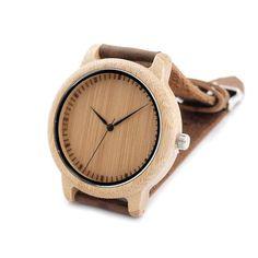 Luxury Brand Men Bamboo Wood Watches Men and Women Quartz Clock Fashion Casual Leather Strap Wrist Watch Male Relogio