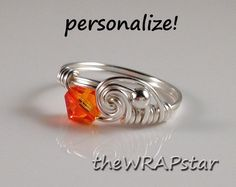 Wire Wrapped Ring Handmade Wire Wrapped Jewelry by theWRAPstar, $14.95