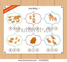 Find Counting Object Kids Education Worksheet stock images in HD and millions of other royalty-free stock photos, illustrations and vectors in the Shutterstock collection. Kids Education, Counting, Worksheets, Royalty Free Stock Photos, Objects, Illustration, Fun, Early Education, Literacy Centers