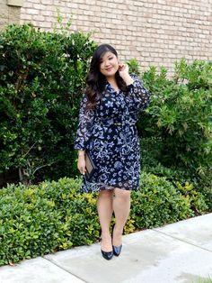 Curvy Girl Chic Dressbarn Roz and Ali Floral Dress