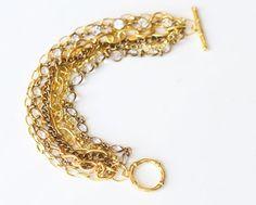 DIY Gold Chain Bracelet