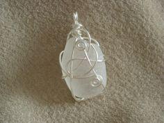Genuine Seaglass Pendant Hand Wrap, Sea Glass, Frost, Gems, Jewels, Pendant, Beach, Jewerly, The Beach