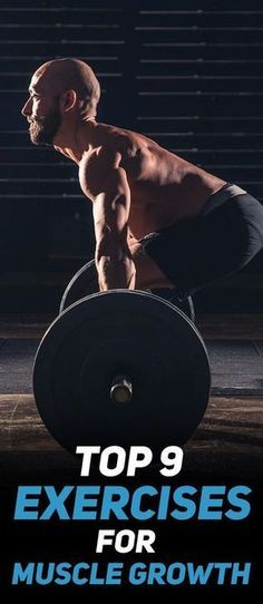 Check out the Top 9 Exercises for Muscle Growth! #fitness #gym #exercise #workout #muscle