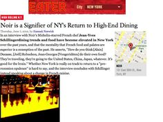 NY's Return to High-End Dining