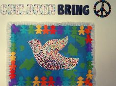 23 rd April international childrens day bulletin board idea can be used for peace day too:-) 23 nisan panosu:-)