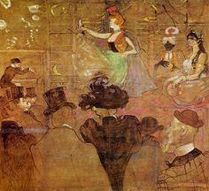 Title:踊るラ・グーリュ La Goulue Dancing Artist:アンリ・ド・トゥールーズ=ロートレック Henri de Toulouse-Lautrec Dates:1895