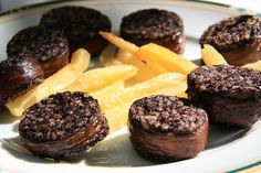 "Spanish ""morcilla"". Black pudding. Very popular throughout Spain"