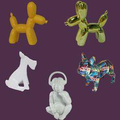Esculturas de cerâmica. Dá uma olhada no nosso site: http://www.marcheartdevie.com.br/produtos/acessorios/cachorro-decorativo-de-ceramica-xd0158/