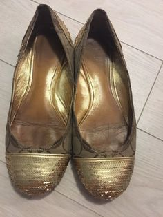 61102b6a903 Extra Off Coupon So Cheap well worn Coach flats womens shoes size 8