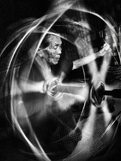 Spinning Silk by Thaib Chaidar / motion Black N White, Black And White Pictures, Motion Blur, Ansel Adams, Photojournalism, Light And Shadow, Belle Photo, Black And White Photography, Art Photography