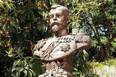 Tsar Nicholas ll of Russia's bronze bust at the grounds of  Livadia.A♥W