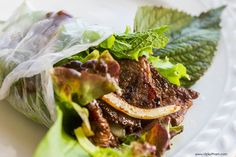 Vietnamese Lemongrass Grilled Beef (Bo Nuong Vi) — Vietnamese Home Cooking Recipes - Meal Time - Vietnamese Vietnamese Sausage, Vietnamese Grilled Pork, Vietnamese Cuisine, Grilled Beef, Vietnamese Recipes, Asian Recipes, Beef Recipes, Cooking Recipes, Ethnic Recipes