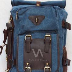 4 in 1 Style: Handbag, Shoulder bag, Messenger Bag, Arm Bag, Backpack Material: High Quality Canvas & PU Leather Dimension: P: 35cm, T: 45cm, L: 20cm Processing Surface: Soft Surface Color: Blue Structure: Zipper pockets, cell phone bags, document bags, laptop pocket Applicable gender: Male & Female. In Stock, Contact us !
