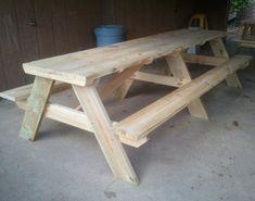 picnic-table-diy                                                                                                                                                     More