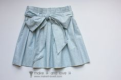 Paper bag skirt. Tutorial for Children's pattern with advice on adult patterns at end.