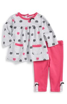 Offspring 'Cat' Tunic & Leggings (Baby Girls) available at #Nordstrom