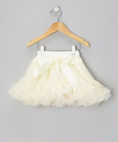 Take a look at this Ivory Pettiskirt - Infant, Toddler & Girls by Diva Daze on #zulily today!