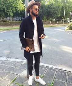 Coat outfit by Fio Fashion Mode, Urban Fashion, Fashion Looks, Mens Fashion, Fashion Menswear, Fashion Styles, Style Fashion, Men Looks, Mode Outfits