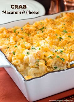 Sponsored - This dreamy Crab Macaroni and Cheese is a very special dish meant for a special occasion. The homemade creamy Cheddar and Monterey Jack cheese sauce compliments the sweet jumbo lump crab meat perfectly. Serve it as a side dish or as an entree it's a fantastic and budget friendly way to serve crab meat to a crowd with style.
