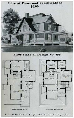 Vintage Farmhouse Plans vintage house plans, georgian | vintage home plans | pinterest