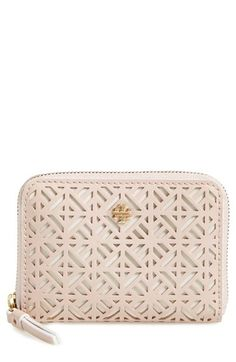 c3f4bd4e1aa Tory Burch  Fret-T  Perforated Coin Case