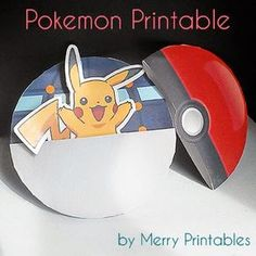 Print and make your own pokeball and fill it with Pokemon. Includes lots of printables!