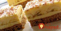 Jednostavni kolači - Torte i kolači Czech Recipes, Ethnic Recipes, Czech Desserts, Kolaci I Torte, Caramel Apples, Nutella, Sweet Recipes, Banana Bread, Tart