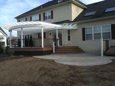 Trex Composite Deck, Pergola, And Pavers