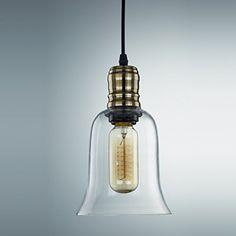 YOBO Lighting Industrial Edison Filament Hanging 1-light Clear Glass Pendant Light Simplicity - - Amazon.com