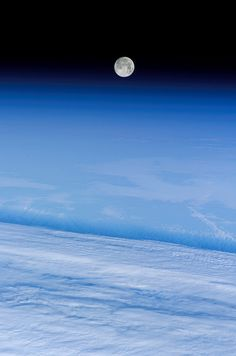 'Snow Moon' Over Earth (NASA, International Space Station, via…