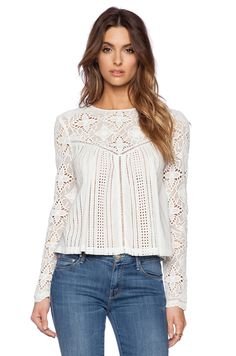 The Jetset Diaries Thinking About You Top Spring Tops, Short Tops, Blouse Vintage, Western Outfits, Revolve Clothing, Lace Tops, Casual Tops, Boho Fashion, Casual Outfits