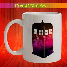 Tardis Galaxy mug, Tardis Ga... from Niyanglass on Wanelo