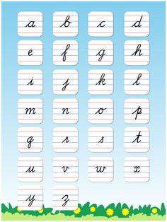 Cursive Writing Small Letters Free : Kids learn to write lowercase alphabets and shapes by Prachi Sachdeva English Cursive Letters, Capital Cursive Letters, Cursive Letters Worksheet, Cursive Handwriting Practice, Alphabet Worksheets, How To Write Cursive, Improve Handwriting, Handwriting Worksheets, Writing