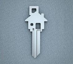 House Shaped House Key!  Unique gift, gift idea, birthday gift, holiday gift, gift for her, gift for him