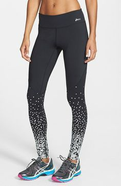 Asics ® 'adria' running tights nordstrom fashionwhat to w Athletic Outfits, Athletic Wear, Sport Outfits, Athletic Pants, Workout Attire, Workout Wear, Workout Outfits, Sport Fashion, Fitness Fashion
