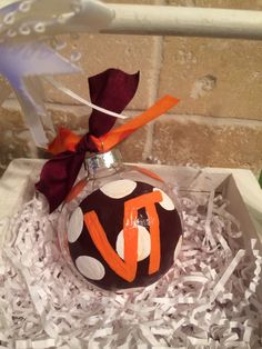 Hand Painted VT Hokies Ornament by MyArtisticEscape on Etsy, $12.00
