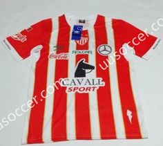 2016-17 Club Necaxa Home Red and White Thailand Soccer Jersey AAA