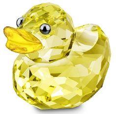 Swarovski Sunny Sandy Duck, Mini Swarovski Crystal Figurine.