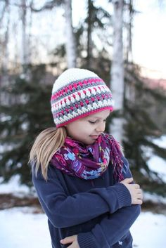 **This is a listing for an instant download PDF crochet pattern**    The Galilee Hat was inspired by fair isle knitting. The best part about working up