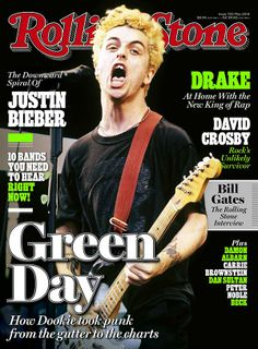 Is this the best Rolling Stone issue ever or what?! The spiraling downfall of Justin bieber and Green Day made the cover story.  I shall hunt this down and buy it.