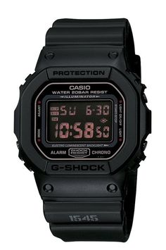 Casio Men's G-Shock DW5600MS-1 Black Resin Quartz Watch