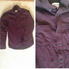 Men's Mossimo Maroon Button Up Men's Size S  NWOT- never worn! In excellent condition!  Is a dark maroon color and a thick material.   Would look cute open with a black crop top and shorts for girls! Mossimo Supply Co. Shirts Casual Button Down Shirts