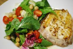 Halibut Salad - going to have to try this one Incredible Recipes, Great Recipes, Favorite Recipes, Recipe Ideas, Fish Recipes, Seafood Recipes, Salad Recipes, Recipies, Fish Dishes