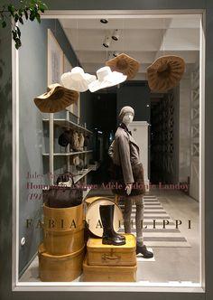 Fabiana filippi windows 2014 fall, milan - italy vm витрина, бутик i италия. Retail Windows, Store Windows, Pop Design, Display Design, Retail Design, Decoration Vitrine, Hat Display, Visual Merchandising Displays, Store Window Displays